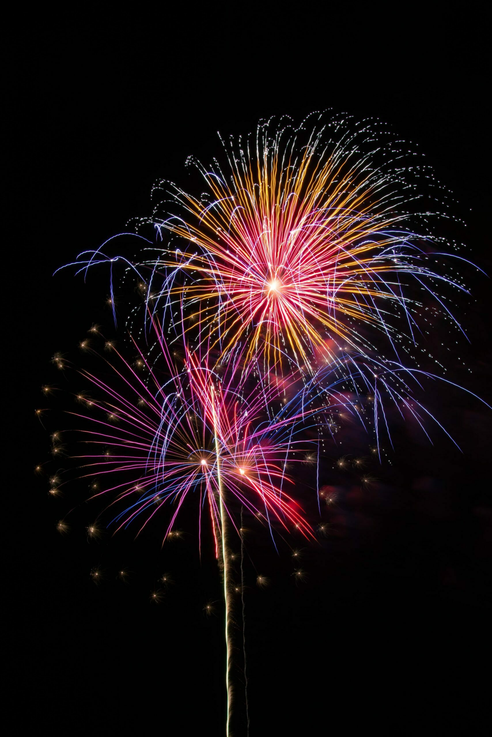 Fireworks on Home page